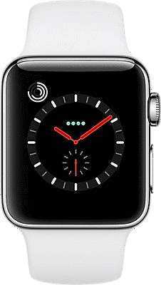quality design e8dd5 ecfea Apple® Watch Series 3 38mm Stainless Steel Case with Sport Band