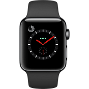 Apple® Watch Series 3 GPS + Cellular, 38mm Space Black Stainless Steel Case with Black Sport Band