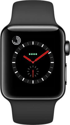 apple watch series 3 stainless steel 38mm case sport band verizon wireless