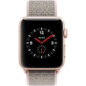 Apple® Watch Series 3, 42mm Gold Aluminum Case with Pink Sand Sport Loop