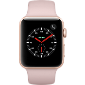 Apple® Watch Series 3 GPS + Cellular, 42mm Gold Aluminum Case with Pink Sand Sport Band