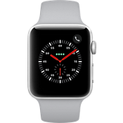 Apple® Watch Series 3 GPS + Cellular, 42mm Silver Aluminum Case with Fog Sport Band