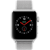Apple® Watch Series 3, 42mm Silver Aluminum Case with Seashell Sport Loop