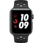 Apple® Watch Series 3, 42mm Space Gray Aluminum Case with Anthracite/Black Nike Sport Band