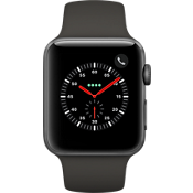 Apple® Watch Series 3 GPS + Cellular, 42mm Space Gray Aluminum Case with Gray Sport Band