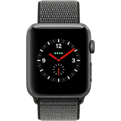 Apple® Watch Series 3, 42mm Space Gray Aluminum Case with Dark Olive Sport Loop