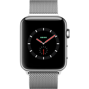 Apple® Watch Series 3, 42mm Stainless Steel Case with Milanese Loop