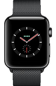 Apple Watch Series 3 Stainless Steel 42mm Case With Milanese Loop