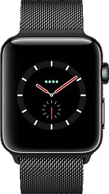 promo code 749ef 9f27b Apple® Watch Series 3 Stainless Steel 42mm Case with Milanese Loop