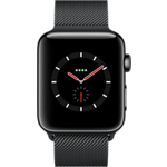 Apple® Watch Series 3 Stainless Steel 42mm Case with Milanese Loop