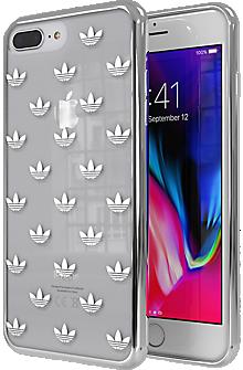 adidas Originals Trefoil Clear Case for iPhone 7 Plus 8 Plus - Clear Silver   de14678a8