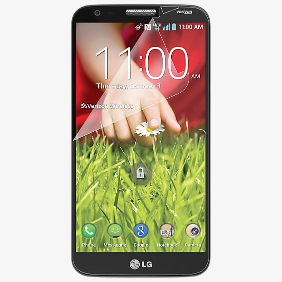 Anti-Scratch Screen Protectors (3 Pack) w/screen wipe for LG G2