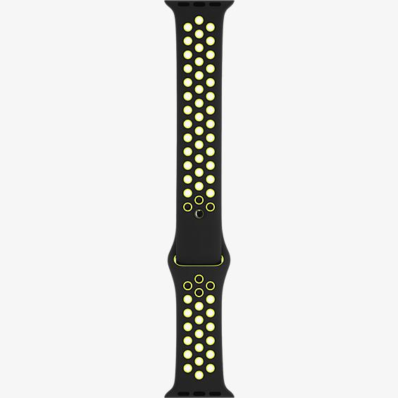 42mm Black/Volt Nike Sport Band - S/M - M/L