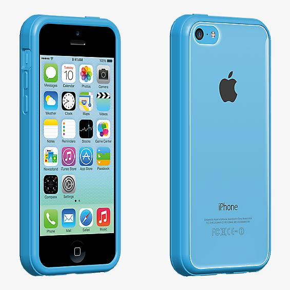 Clear Shell with Blue Edge for iPhone 5c