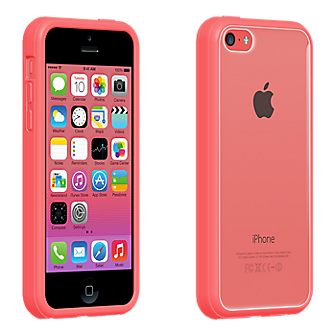 iphone 5c verizon verizon clear shell with pink edge for iphone 5c verizon 11144