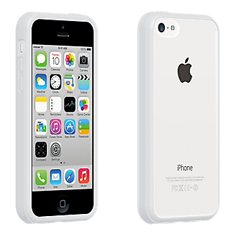 white iphone 5c verizon clear shell with white edge for iphone 5c 13298