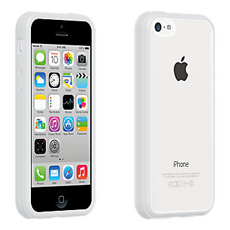 Verizon Clear Shell with White Edge for iPhone 5c ...