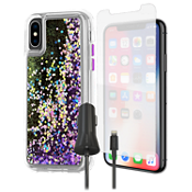 Case-Mate Waterfall Case, Protection & Charging Bundle for iPhone XS/X