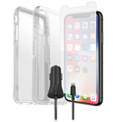 Otterbox Symmetry Clear Case, Protection & Charging Bundle for iPhone XS/X