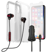 Otterbox Symmetry Case, Protection & Charging Bundle with Headphone for XS/X