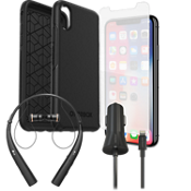 Otterbox Symmetry Case, Protection & Charging Bundle with Headset for XS/X