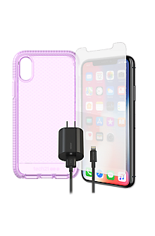 newest 95fce ad14f Tech 21 Evo Check Case, Protection & Charging Bundle for iPhone XS/X