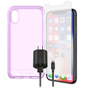 Tech 21 Evo Check Case, Protection & Charging Bundle for iPhone XS/X