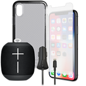 Tech21 Evo Check Case, Protection & Charging Bundle with Wonderboom for iPhone XS/X