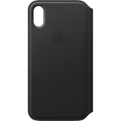 Leather Folio Case for iPhone X - Black