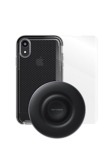 new style 4199f b2c4d Tech21 Evo Check Case, Protection and Wireless Charging Bundle for iPhone XR