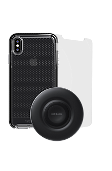 wholesale dealer d2064 5ea55 Tech21 Evo Check Case, Protection and Wireless Charging Bundle for iPhone  XS Max