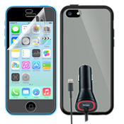 Travel Bundle for Apple iPhone 5c - Clear