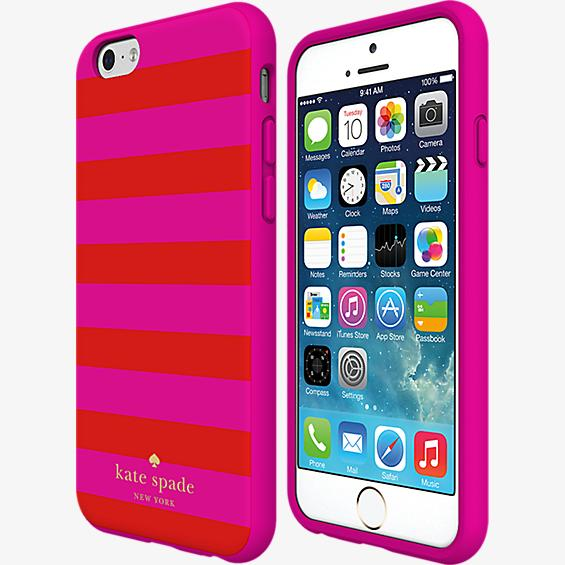 Flexible Hardshell Case for iPhone 6 Plus/6s Plus - Candy Stripe