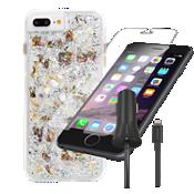 Case-Mate Karat Case for iPhone 7 Plus Bundle