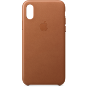 Leather Case for iPhone XS - Saddle Brown