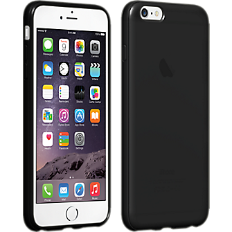 High Gloss Silicone Case for iPhone 6 Plus/6s Plus - Black