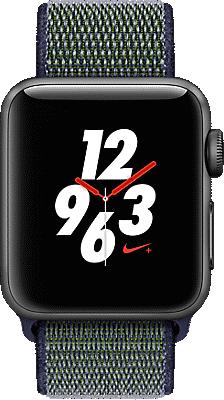 Apple® Watch Series 3 Nike+ Aluminum 38mm Case with Sport Loop