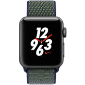 Apple Watch Nike+, 38mm Space Gray Aluminum Case with Midnight Fog Nike Sport Loop