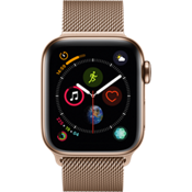 Apple® Watch Series 4, 40mm Stainless Steel Case with Milanese Loop in Gold