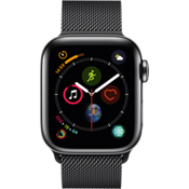 Apple® Watch Series 4, 40mm Stainless Steel Case with Milanese Loop in Space Black