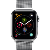 Apple® Watch Series 4, 40mm Stainless Steel Case with Milanese Loop in Silver