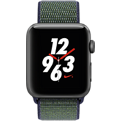 Apple Watch Nike+, 42mm Space Gray Aluminum Case with Midnight Fog Nike Sport Loop