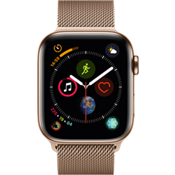 Apple® Watch Series 4 GPS + Cellular, 44mm Gold Stainless Steel Case with Gold Milanese Loop