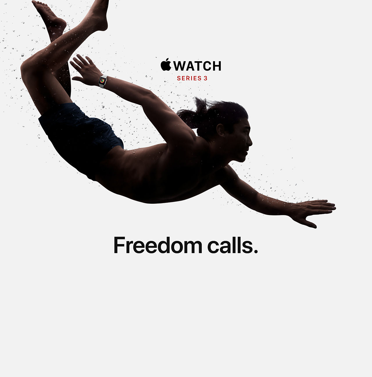 Answer a call from your surfboard. Ask Siri to send a message. Stream your favorite songs on your run. And do it all while leaving your phone behind. Introducing Apple Watch Series 3 with cellular. Now you have the freedom to