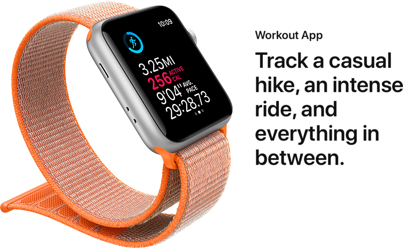 Workout App. Track a casual hike, an intense ride, and everything in between.