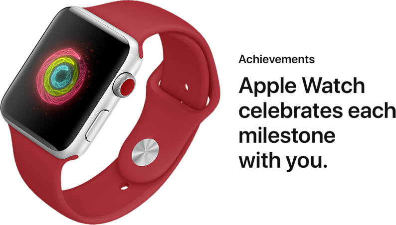 Achievements. Apple Watch celebrates each milestone with you.