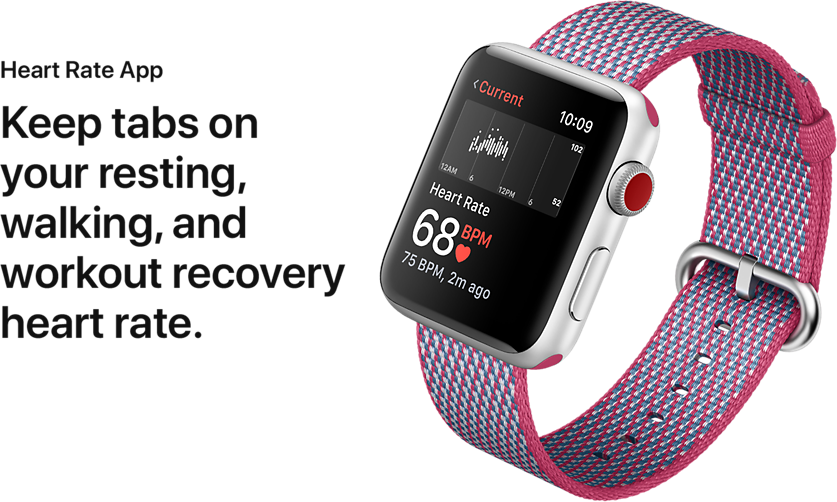 Heart Rate App. Keep tabs on your resting, walking, and workout recovery heart rate.