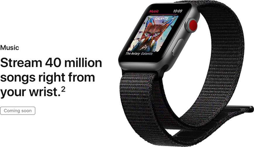 Music. Stream 40 million songs right from your wrist.