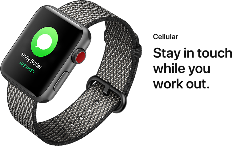Cellular. Stay in touch while you work out.