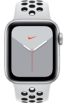 Apple® Watch Series 5 Silver Aluminum 40mm Case with Nike Sport Band
